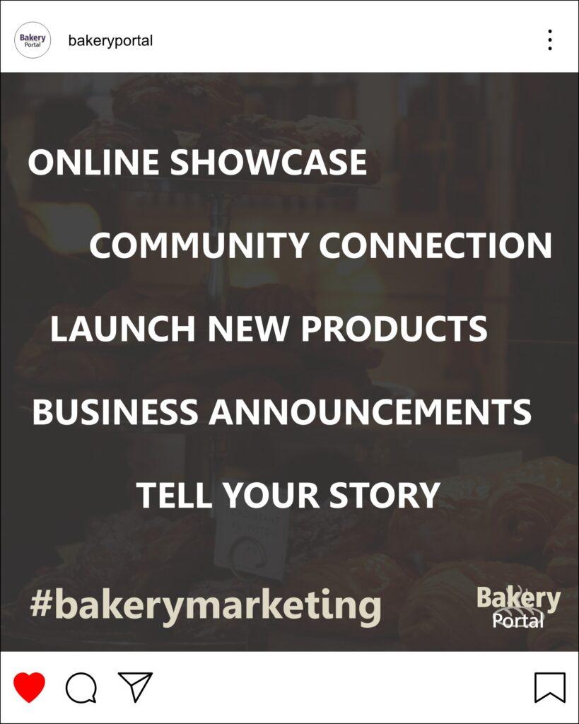 Bakery Portal helping bakeries with social media Instagram Facebook #bakerymarketing #bakeryportal